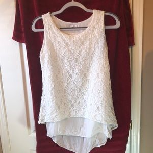 Beautiful lace top with underlay. Made in Italy